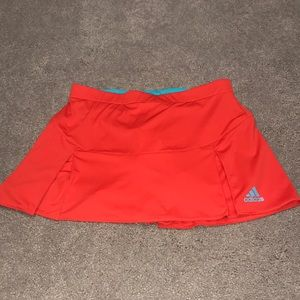 Bright Red Adidas Tennis Skirt!